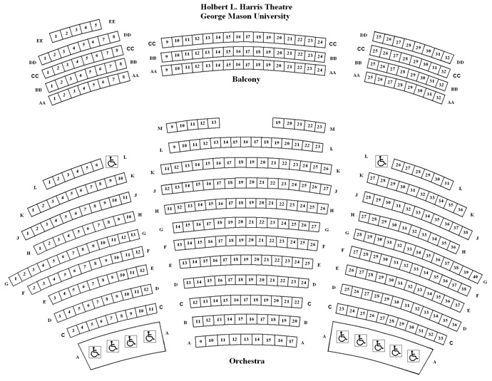 Harris Theatre Seating Chart (with seat detail)